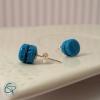 puces d'oreilles Argent 925 macarons bleus bijoux petite fille