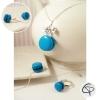 parure bijoux petite fille macarons bleu turquoise faits main
