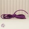 Rubans violet en matière suédine pour fabriquer un délicat bracelet infini