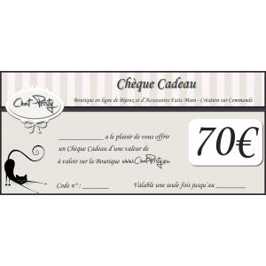 Chèque Cadeau 70€