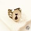 Bague cabochon Chat Pristy