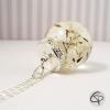 pendentif fleurs de pissenlit dans un globe en verre collier argenté