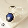 boucles d'oreilles bleu marine bijoux faits main femme