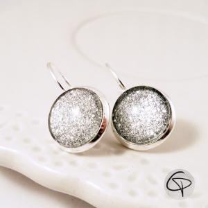 boucles d'oreilles argent pailleté bijoux pour les fêtes