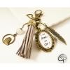 Bijou de sac personnalisé une amie en or porte-clé vintage pompon taupe