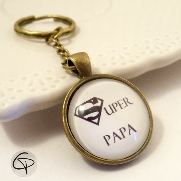 Porte-clef bronze Papa