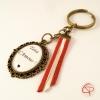 Porte-clef bronze Tata d'amour rubans rouges