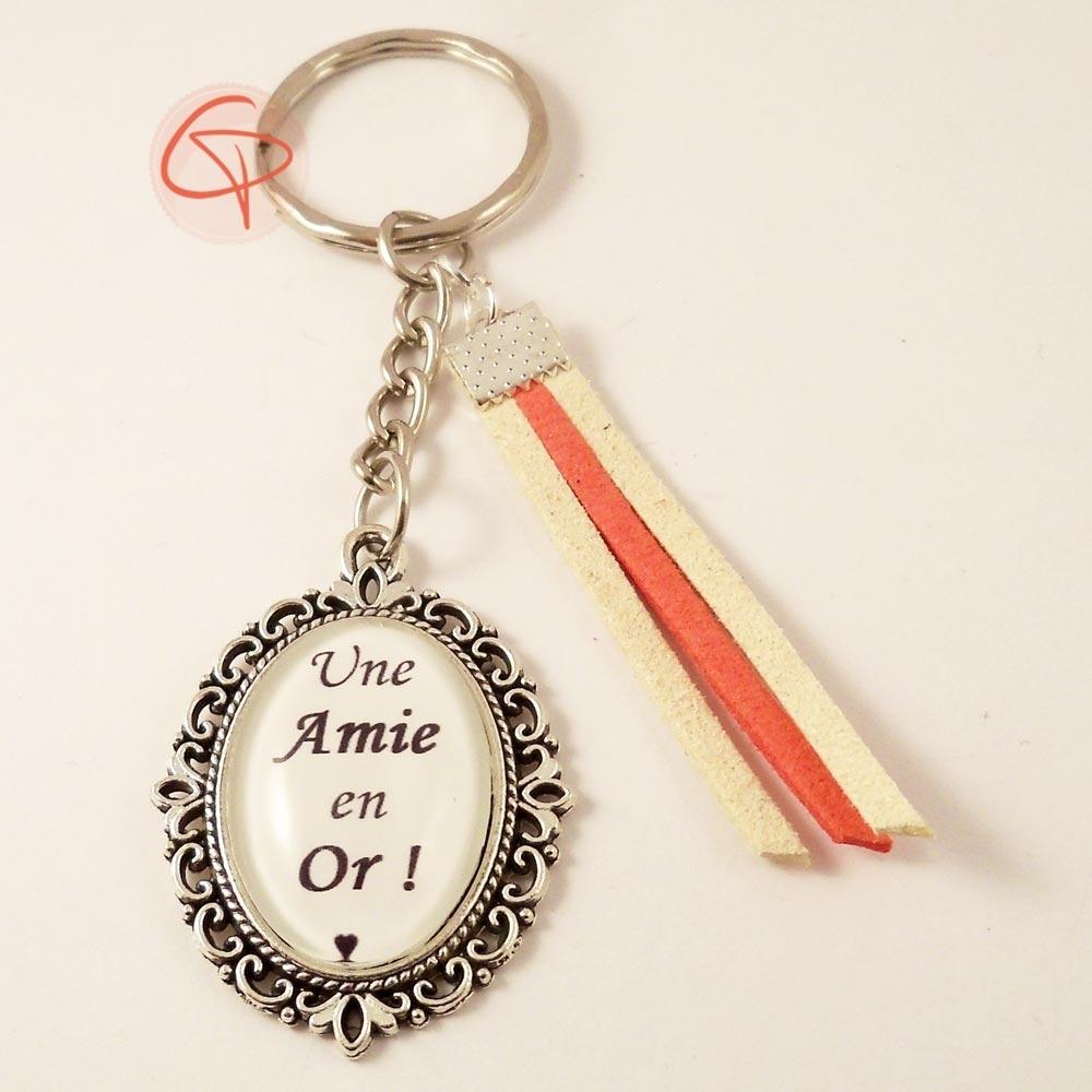 Porte-clé Amie en Or