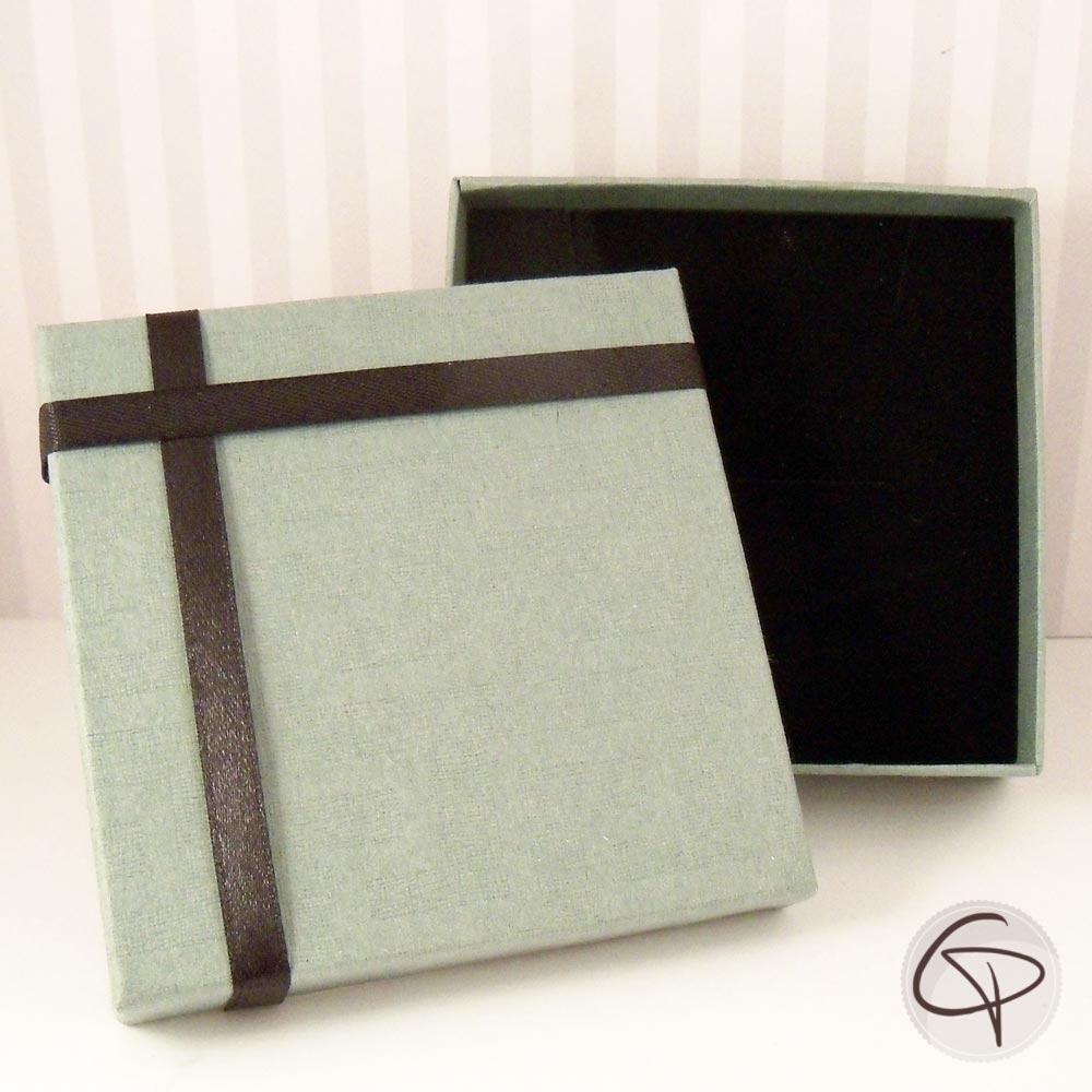 Boîte carré vert léger