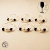 Bijoux de verre PERLES BLANCHES ET NOIRES