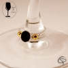 Bijoux de verre CRYSTAL NOIR et DORE