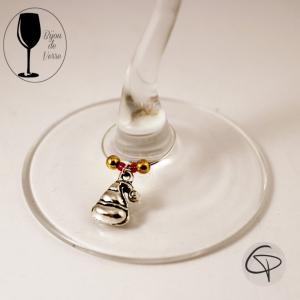 Bijoux de verre CRYSTAL ROUGE DORE breloques