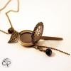 sautoir bronze avec pendentif médaillon porte photo qui s'ouvre