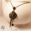 pendentif porte photo bronze en sautoir bijou pour femme