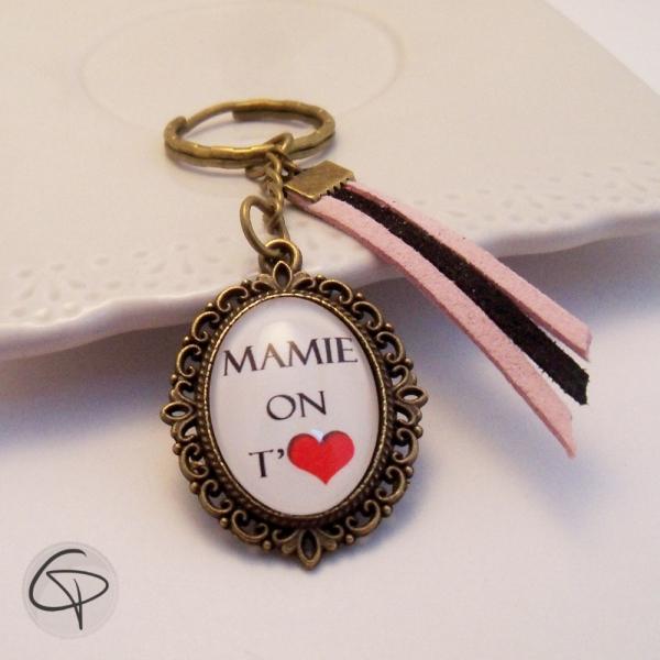 Porte-clef Mamie on t'aime