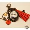 Porte-clef de sac mamans cadeau original et personnalisé offrir maman pompon orange