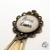 Cadeau personnalisé maman signet bijou bronze pour livre fête des mères