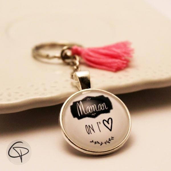 Porte-clef maman on t'aime - cadeau original et personnalisé