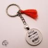 Cadeau original personnalisé fête des mère porte-clef belle maman qui déchire pompon rouge