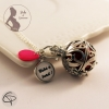 bola de grossesse fille personnalisable perle rose fuchsia