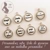 médailles avec message personnalisé pour bola de grossesse