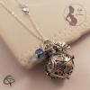 Bola de grossesse perle bleu clair et grelot blanc bijou pour femme enceinte