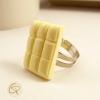 bague tablette de chocolat blanc bijou gourmand