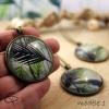 Sautoir dessin feuille de palmier bijou tropical
