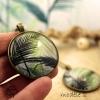 Long sautoir dessin feuille de palmier bijou tropical