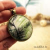Pendentif dessin feuille de palmier bijou tropical original