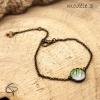 bracelet motifs tropicaux en médaillon aquarelle feuilles de palmier