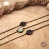 bracelet tropicaux aquarelle palmier en médaillon bijoux originaux