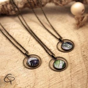 Collier tropicaux bijoux originaux feuilles de palmier