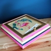 Boîte à trésor pour enfant flamant rose coffret en bois idée cadeau fille chat pristy