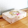 boîte à souvenirs pour enfant illustration licorne sur bois