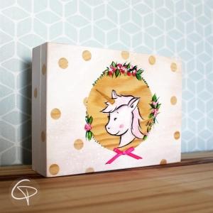 boîte à trésor licorne coffret souvenirs enfant