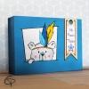 Boîte à trésor pour enfant coffret en bois cadeau anniversaire garçon fille Chat Pristy