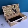 Boîte à trésors Plume 99 clous dorés coffret en bois enfant chat pristy