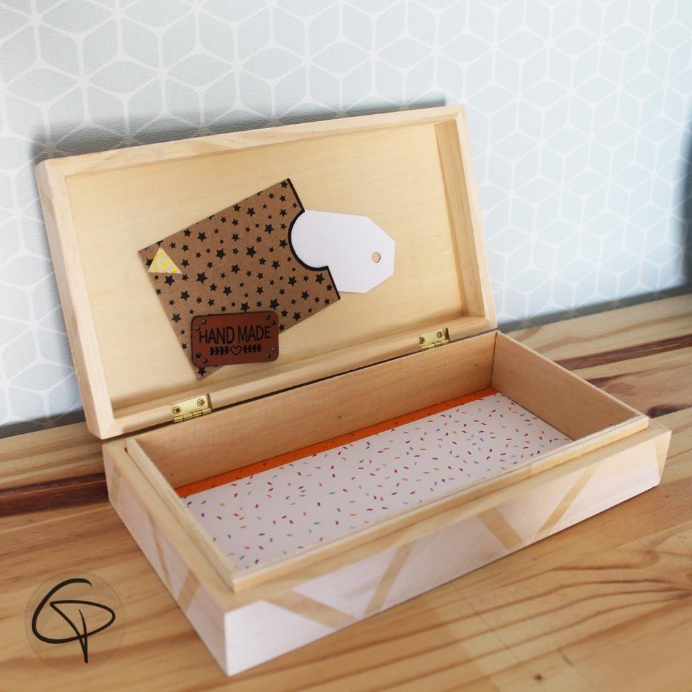 bo te tr sor renard coffret en bois cadeau anniversaire enfant. Black Bedroom Furniture Sets. Home Design Ideas