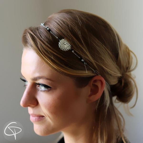 Headband argenté Rosace