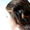 Barrette à cheveux motifs tropicaux pince originale avec aquarelle
