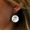 boucles d'oreilles fleurs de pissenlit bijou féminin fait main