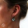 boucles d'oreilles femme médaillon palmier bijoux motifs tropicaux