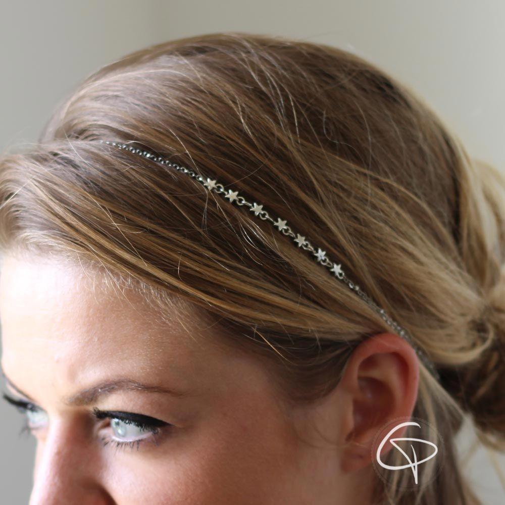 Headband argenté Etoiles