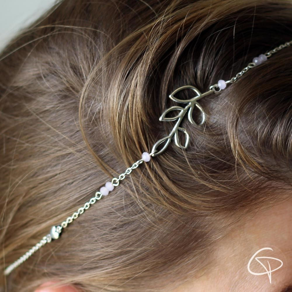 Headband argenté Feuille