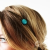 headband bijou de tête cabochon bleu azur mariage habillé
