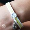 Bracelet JAUNE et BLANC Personnalisable