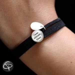 Bracelet NOIR Personnalisable