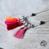 Collier Lea pompons chat pristy