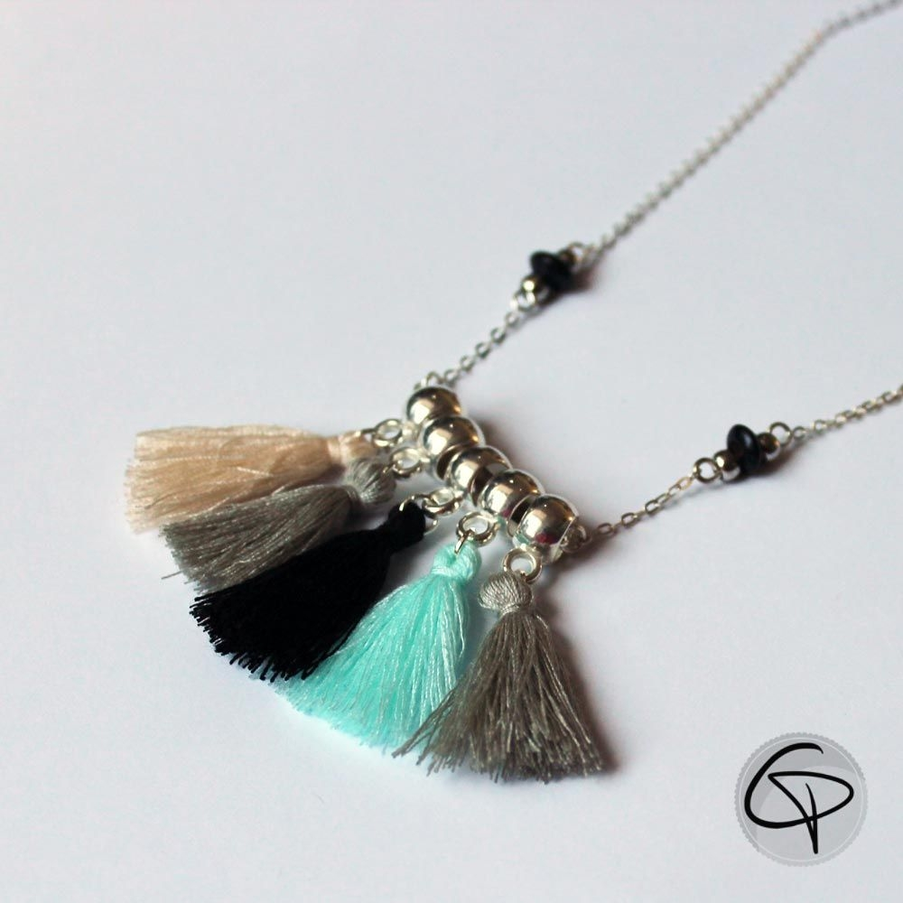 Collier Manon pompons chat pristy